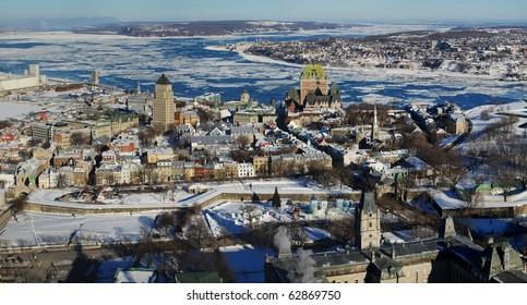 Quebec City Panorama view from Observatoire de la Capitale
