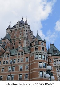 Quebec city in Quebec province / Canada - July 10 2018: hotel Le Château Frontenac
