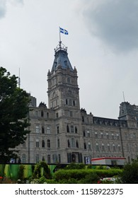 Quebec City, Que/Canada-August 8 2018: The Quebec Legislature (officially the Parliament of Quebec) meets in the Quebec Parliament Building pictured here. Photo taken on August 8 2018.