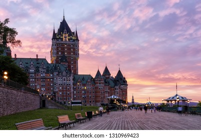 Quebec City Skyline at Sunset - Quebec, Canada