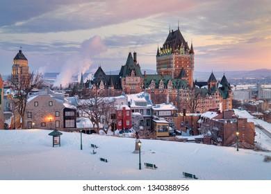 Quebec city at sunrise