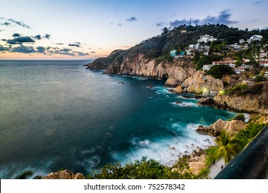 The Quebrada cliff is a famous atraction of Acapulco.
