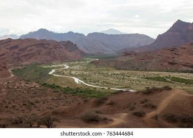 Quebrada de las conchas in Cafayate. 1700 meter, a beautiful landscape