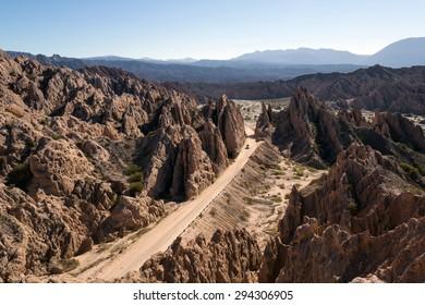 The 'Quebrada de las Flechas' (Broken Arrows) is a landform located at km 4380 of National Route 40 in the Department San Carlos in Salta Province, Northern Republic of Argentina.