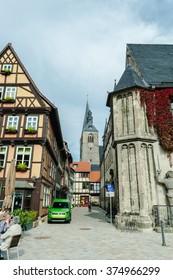 Quedlinburg, Germany  ?? 4 Oct 2015: Quedlinburg Unesco town of Germany
