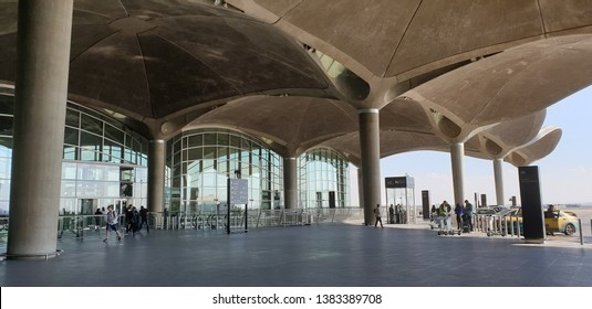 Queen Alia Airport, Amman, Jordan - April,18, 2019 Queen Alia Airport a Jordan's largest airport located in cappital city , Amman