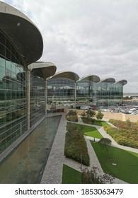 Queen Alia Airport, Amman, Jordan - March 3, 2020: Queen Alia Airport a Jordan's largest airport located in capital city of Amman