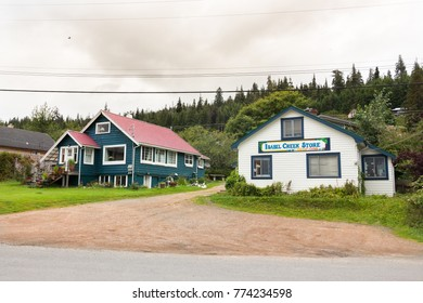 Queen Charlotte Island, Canada - August 25th, 2017: The Isabel Creek Store located at Wharf St in Queen Charlotte Island