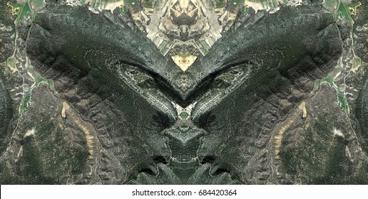 The queen, the cobra and two dragons,Symmetrical photographs,  magical realism, surreal photography, abstract, magical picture just for crazy