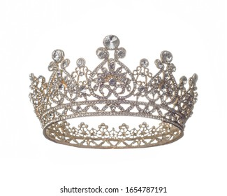 Queen Crown over white background