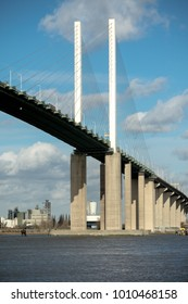 The Queen Elizabeth II bridge across the River Thames at Dartfor