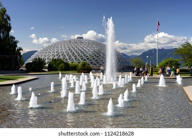 QUEEN ELIZABETH PARK, VANCOUVER - MAY 30, 2018: 130-acre municipal park is located in Vancouver, on Little Mountain. Garden was created 1939. Pictured is Bloedel Conservatory. British Columbia, Canada