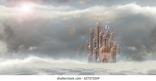 queen of hearts palace cloudy