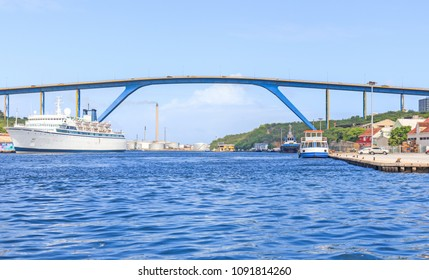 Queen Juliana Bridge in Willemstad, Curacao