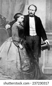 Queen Victoria (1819- 1901) and Prince Albert (1819- 1861), Queen Victoria ruled Great Britain from 1837- 1901, Picture: 1840