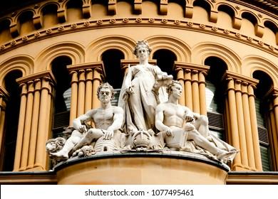 Queen Victoria Building Statues - Sydney - Australia