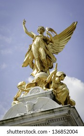 Queen Victoria Memorial in front of Buckingham Palace at London, England