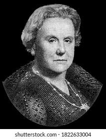 Queen Wilhelmina. Portrait from Netherlands Indies Banknotes.