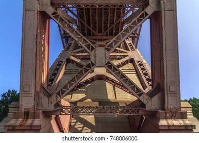 QUEENS, ASTORIA, NY (8/26/2017) - View from under the Hell Gate Bridge.