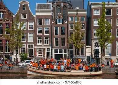 Queens Day in Amsterdam, Netherlands