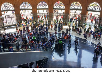 Queens, New York - 3 May 2015: Jackie Robinson Rotunda at the Citi Field stadium, home of the New York Mets.