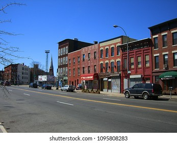 QUEENS, NEW YORK – APRIL 2: A view of Jackson Avenue on April 2, 2006 in Queens, New York. Jackson Avenue was named for John C. Jackson (1809-1899), a respected citizen of Queens County.