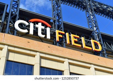 QUEENS NEW YORK CIRCA DECEMBER 2018. Citi Field, home of the New York Mets Baseball team and popular attraction for tourists and local residents to watch a ball game in season.