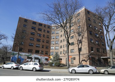 QUEENS, NEW YORK - MARCH 24, 2015: New York City Housing Authority Public Housing  in Astoria