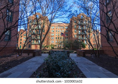 QUEENS, NY / USA - January 27, 2018: Inside of Phipps/Sunnyside Garden Apartments