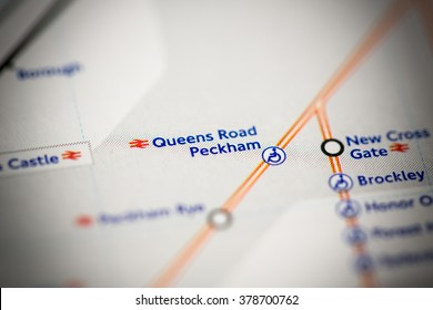Queens Road Peckham Station. London Overground. London. UK.