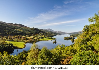 Queen's View at Loch Tummel - Scotland, UK