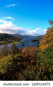 Queens view over Loch Tummel Perthshire Scotland Portrait Format