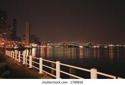 Queensboro Bridge and NYC at night