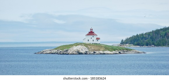 Queensboro Light graces Chedabucto Bay north of Halifax.