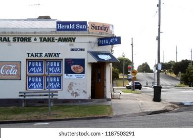 Queenscliff, Victoria AUSTRALIA - March 5, 2014: Milk bar and convenience store