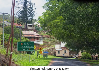 Queensland, Australia – January 26, 2015: The entrance to historic mining town of Irvinebank on the Atherton Tableland in Queensland, Australia