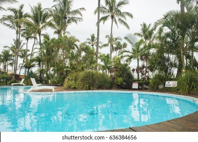 QUEENSLAND, AUSTRALIA - MARCH 22, 2017: View of Tangalooma Island Resort in Moreton Island, Queensland, Australia