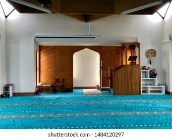 Queenstown, New Zealand - August 2019. The Christchurch mosque is the place where they were two consecutive terrorist shooting attacks at mosques in Christchurch, New Zealand