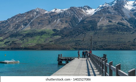 QUEENSTOWN, NEW ZEALAND - OCTOBER 10, 2018: View of the landscape of the lake Wakatipu