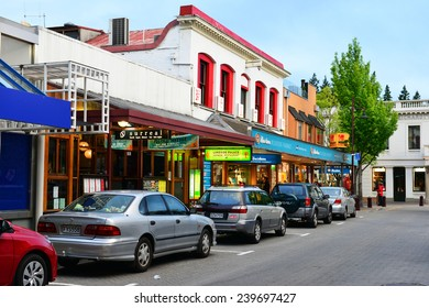 QUEENSTOWN, NZ - Nov18:Visitors in Queenstown Mall on Nov18 2014.It's one of the most popular travel destination in New Zealand known for it's restaurants, ski tourism and extreme sport adventure.