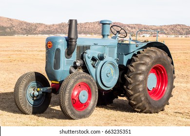 QUEENSTOWN, SOUTH AFRICA - 17 June 2017: Vintage Lanz Bulldog Tractor parked at air and car show