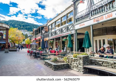 Queenstown,New Zealand - April,26,2016 : Queenstown mall is the popular landmark in New Zealand,people can seen exploring around it.