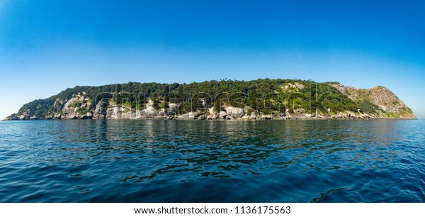Queimada Grande island (ilha da Quaimada Grande) close to Itanhaem city, shore of São Paulo state, Brazil. One of the most dangerous places in the world due to a large population os endemic snakes.