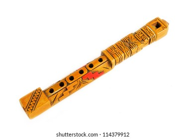 Quena flute. Typical wooden flute of the Andes in South America