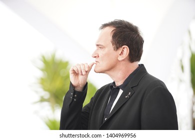 """Quentin Tarantino attends thephotocall for """"Once Upon A Time In Hollywood"""" during the 72nd annual Cannes Film Festival on May 22, 2019 in Cannes, France."""