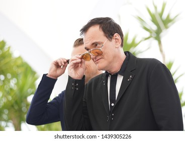 """Quentin Tarantino attends the photocall for """"Once Upon A Time In Hollywood"""" during the 72nd annual Cannes Film Festival on May 22, 2019 in Cannes, France."""