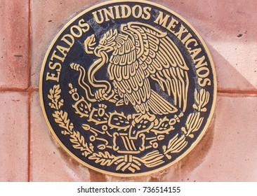 QUERETARO, QUERETARO / MEXICO - 06 22 2017: Mexican official National Emblem