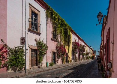Queretaro, Mexico, 2016, streets of the city with colonial houses