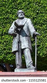 Queretaro, Queretaro Mexico, August 13, 2018: Monument in homage to Ezequiel Montes Ledezma, prominent Mexican liberal politician of the 19th century.