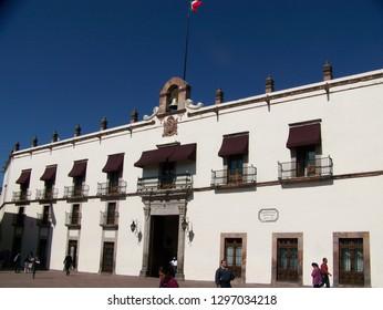Queretaro, Mexico, November 29, 2016. Palacio de Gobierno Casa de la Corregidora in Queretaro, Mexico on November 29, 2016.